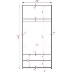 Блок двох дверний 1100 до...
