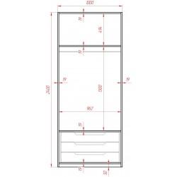 Блок двох дверний 1000 до...
